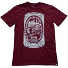 T Shirt DC BRUE bordeaux
